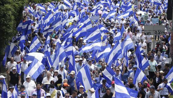 La manifestación del próximo jueves es el cuarto llamado a un paro nacional en Nicaragua contra el presidente Ortega desde que comenzó el conflicto en abril pasado. (Foto: EFE)