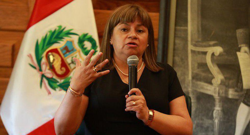 La ministra de Salud, Zulema Tomás, aseguró que su permanencia en el cargo dependerá del presidente Martín Vizcarra. (Foto: Ministerio de Salud)