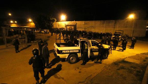 Imagen de archivo de policías de Bolivia. (EFE/Juan Carlos Torrejón).