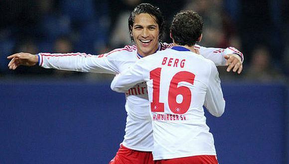 Guerrero fue uno de los mejores jugadores del duelo del domingo, según prensa. (Hamburgo)