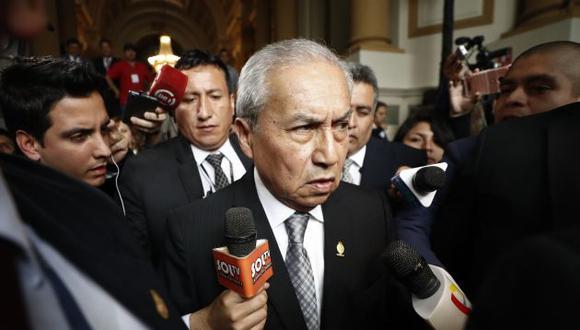 El fiscal de la Nación ha sido cuestionado por diversas bancadas del Congreso, menos FP. (Perú21)