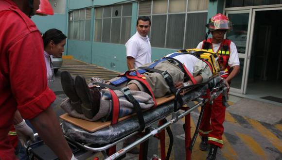 Policía herido fue trasladado al Hospital de Satipo. (USI/Referencial)