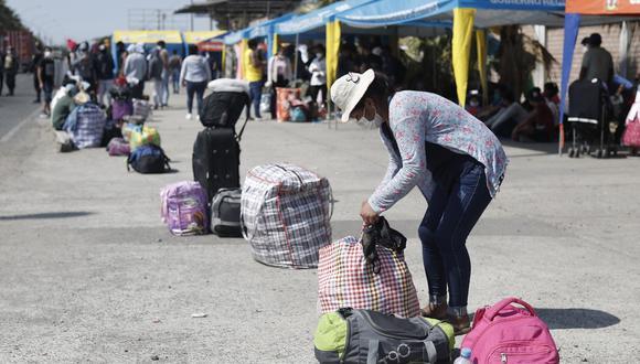 Volver con responsabilidad. Gobiernos regionales deben empadronar a los viajeros.