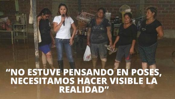 Lady Guillén tiene una explicación a su 'extraña' cobertura en Huaycoloro (Twitter)
