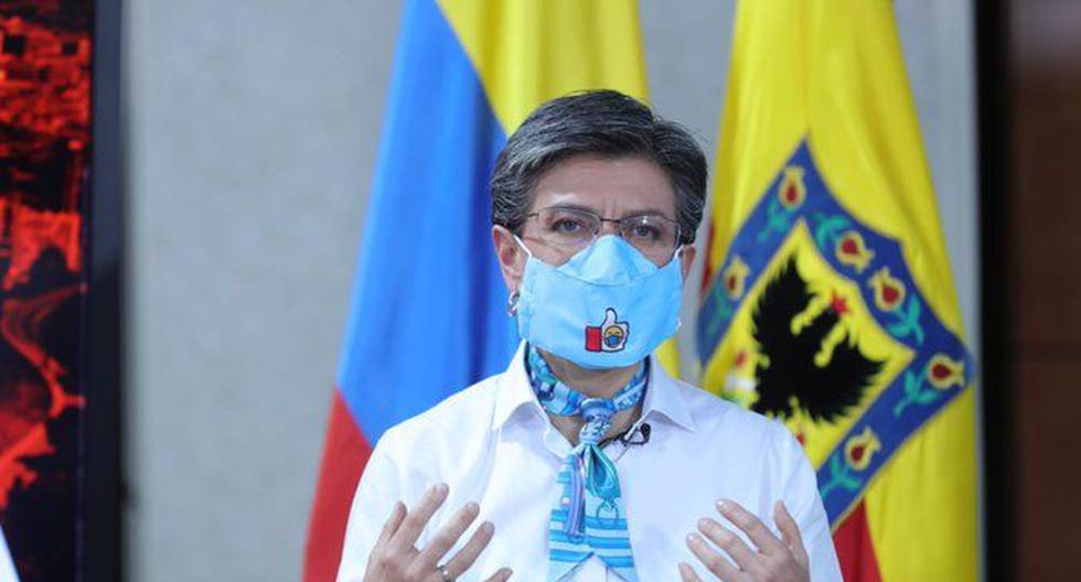 """""""Es en estos momentos donde debemos aferrarnos a la Constitución y movilización ciudadana pacífica"""", dijo la alcaldesa de Bogotá, Claudia López. (Foto: Alcaldía de Bogotá, vía Twitter)."""