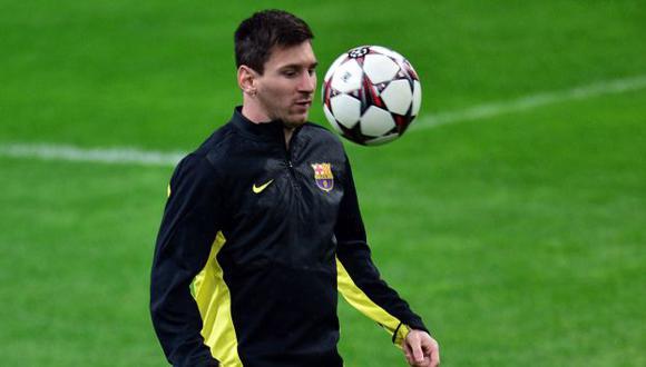 Lionel Messi sigue su proceso de recuperación de la lesión que lo aqueja. (AFP)