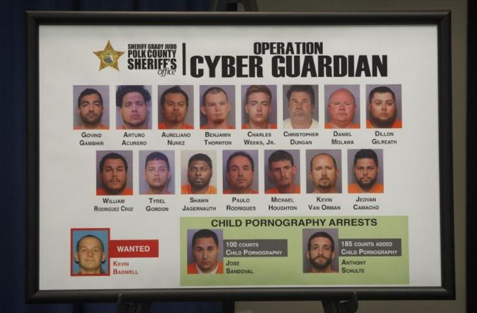Florida: Capturan a 16 pedófilos mediante operativo 'Cyber Guardian' (Daily News)