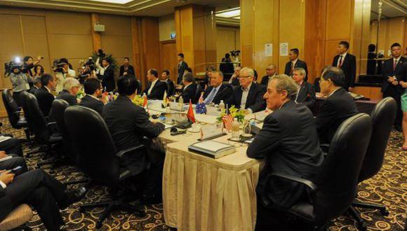 Acuerdo Transpacífico. Representantes de 12 países inician en Singapur la ronda de negociaciones para llegar a un acuerdo a fines de año. (AFP)