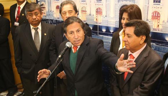 Alejandro Toledo será defendido por congresistas de su partido. (Martín Pauca)