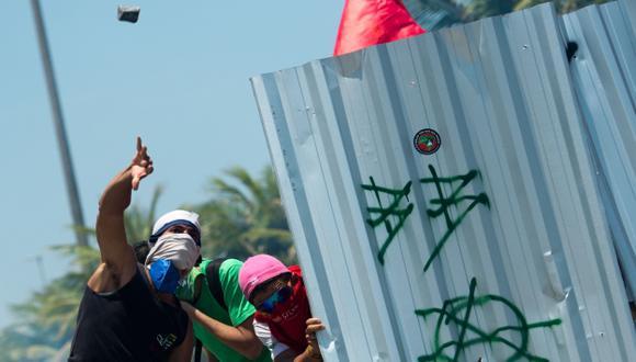 PROTESTAS. Muchos no quieren que se liciten recursos naturales. (AFP)