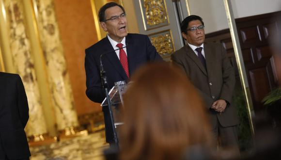 Martín Vizcarra promulgó dos proyectos de reforma política aprobados por el Congreso. (Presidencia de la República)