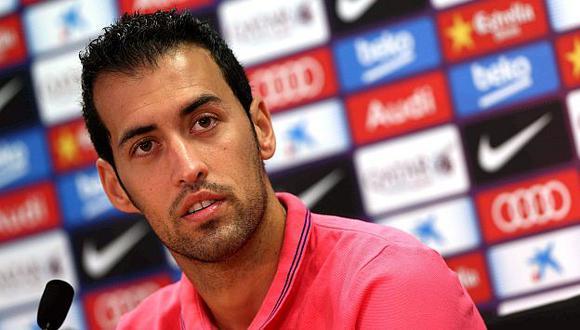 Busquets destacó a la planilla del Real Madrid. (EFE)