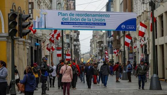 La Municipalidad de Lima implementó un Plan de Reordenamiento del Jirón de la Unión. (Difusión)