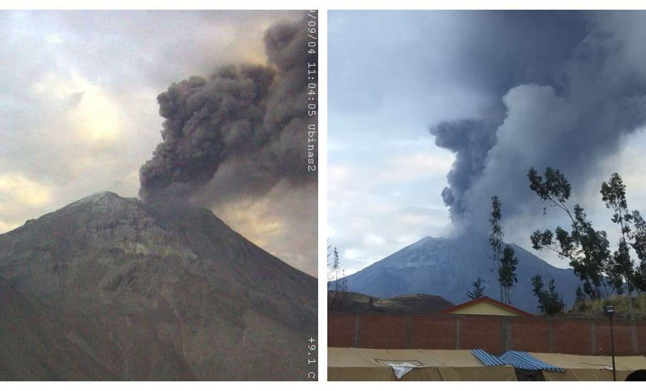 La explosión del volcán Ubinas ocurrió a las 05:51 a.m. (Foto: IGP)