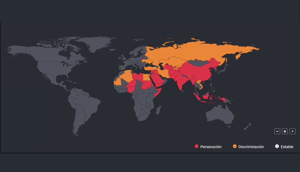 Informe de Libertad religiosa en el mundo.
