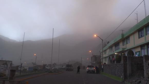 """El IGP informó que la explosión se dio con dirección este y sureste y con un radio de dispersión """"mayor a 10 kilómetros"""". (Foto: IGP)"""