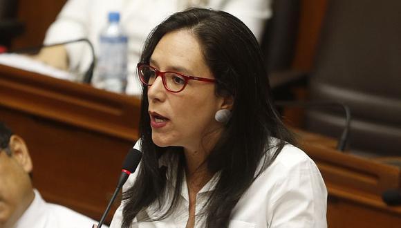 La congresista de Nuevo Perú, Marisa Glave, recordó que un juez dictó una orden para impedir que César Rojas Vidarte se pueda acercar a ella. (Foto: GEC)