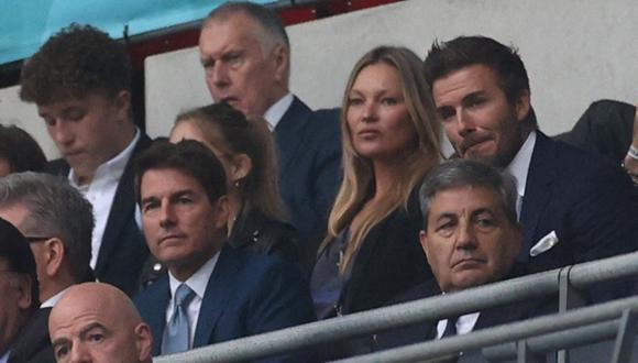 Tom Cruise asistió a la final de la Eurocopa junto a David Beckham. (Foto: CARL RECINE/AFP).