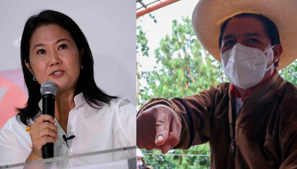 En camino. Los candidatos de Perú Libre y Fuerza Popular apuntan a la segunda vuelta electoral del próximo 6 de junio. (AFP)