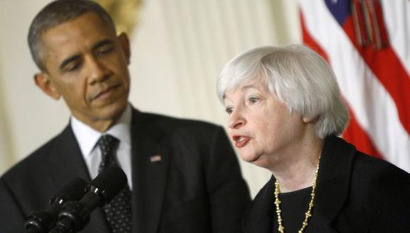 Janet Yellen junto a Barack Obama. (Reuters)
