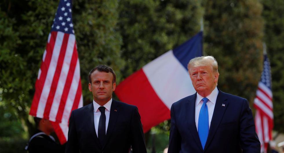 Macron y Trump rinden homenaje a los veteranos del desembarco de Normandía. (Foto: Reuters)