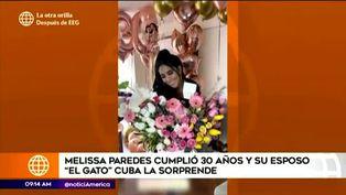 Melissa Paredes recibió inesperada sorpresa de su esposo Rodrigo Cuba por su cumpleaños