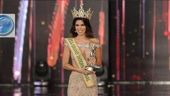 Lora le dedicó su premio a todas las mujeres que son víctimas de violencia en nuestro país. (Miss Grand International/Instagram)