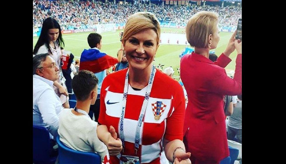 Kolinda Grabar-Kitarovic, presidenta de Croacia, ingresó al vestuario de sus compatriotas y festejó a lo grande victoria de sobre Rusia. El clip se viralizó en Facebook.