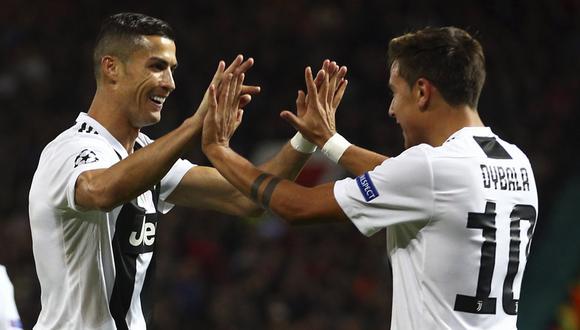 Cristiano Ronaldo y Paulo Dybala protagonizaron un viral ¿con dedicatoria a Real Madrid? (AP)