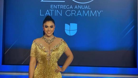Maricarmen Marín se luce en fotografía junto a Juanes en los Latin Grammy 2019. (Foto: @maricarmenmarins)
