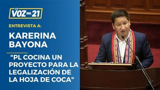 """Karerina Bayona: """"Perú Libre cocina un proyecto para la legalización de la hoja de coca"""""""