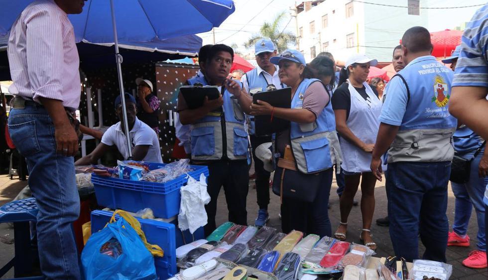 Los ambulantes  se encuentran ubicados en las calles Cochrane y Salón, así como en las avenidas Sáenz Peña y Colón. (Municipalidad del Callao)