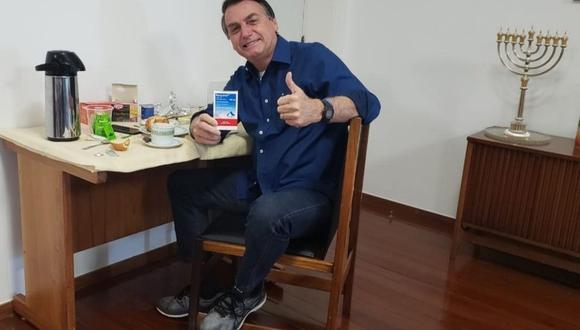 Jair Bolsonaro dio negativo a prueba de coronavirus, tras de varias semanas de aislamiento. (Foto: Facebook de Jair Bolsonaro).