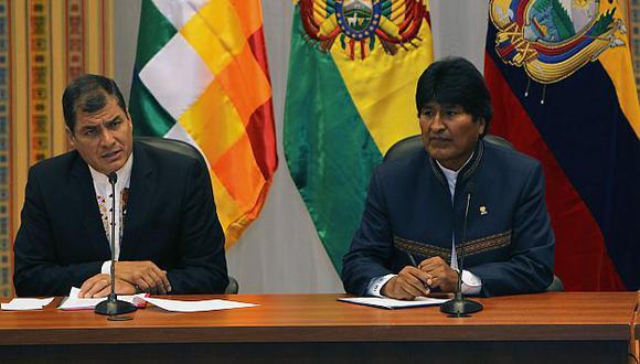 Correa expresó su apoyo a Bolivia por su reclamo a Chile de una salida al mar.  (EFE)