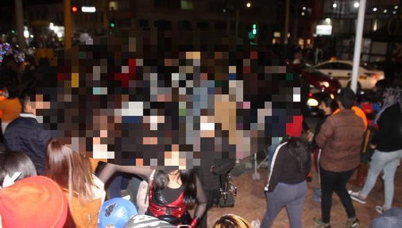 Junín: calles de Huancayo lucieron repletas de personas para celebrar fiesta de Halloween (Foto: Kevin Crisóstomo)