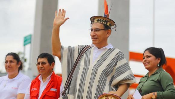 El presidente Martín Vizcarra habló sobre el referéndum en una visita a Chanchamayo, en la región Junín. (Foto: Andina)