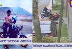 Jesús María: Roban moto y extorsionan a campeón de fisicoculturismo | VIDEO
