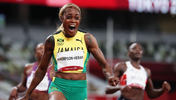 Elaine Thompson consiguió nuevo récord olímpico en Tokio 2020. (Foto: EFE)