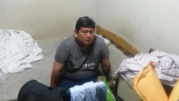 El presidente de la Junta de Fiscales Superiores de Ucayali, Luis Alberto Jara Ramírez, el día que fue detenido, el pasado 18 de febrero. (PNP)