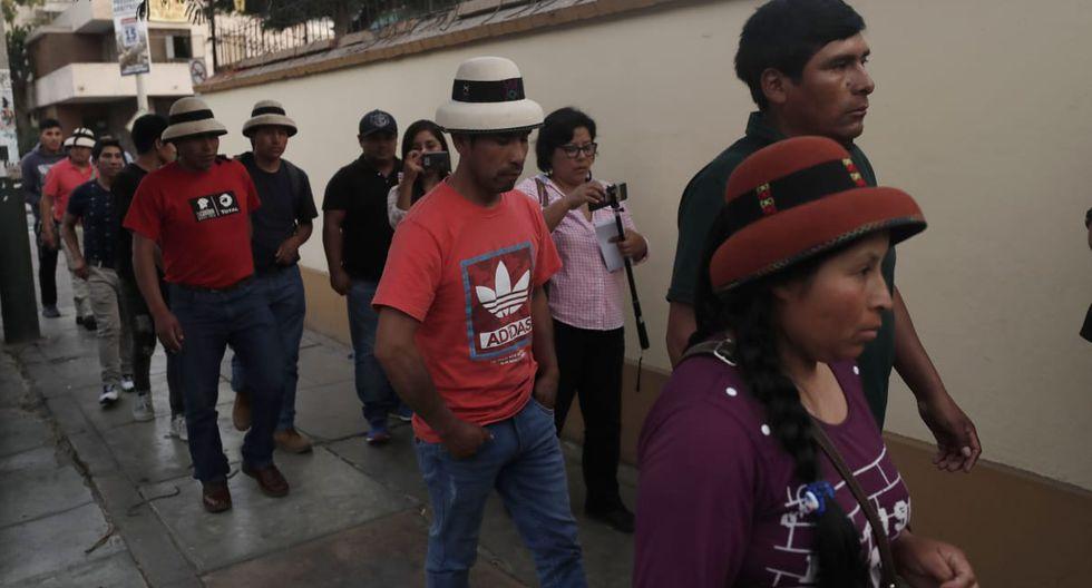 Reunión entre Salvador de Solar y Gregorio Rojas. (Foto: Renzo Salazar / GEC)