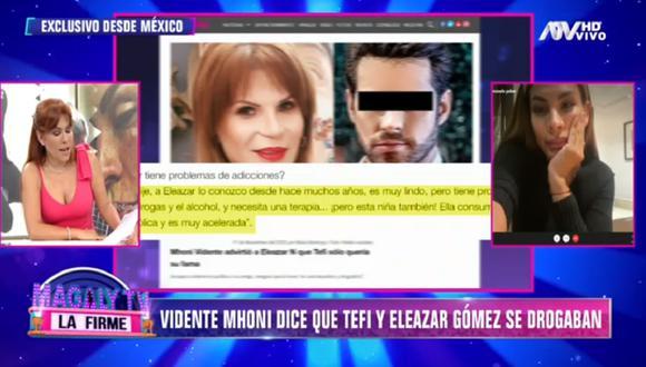 Stephanie Valenzuela se defiende tras declaraciones de la prima de Eleazar Gómez. (Foto: Captura ATV)