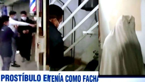 En este local de Los Olivos fueron intervenidas diecinueve personas. (Captura ATV)