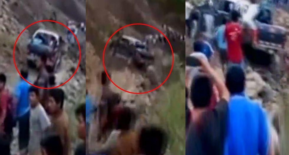 Ayacucho: pasajeros salvan de morir luego que camioneta estuviera a punto de caer a un abismo