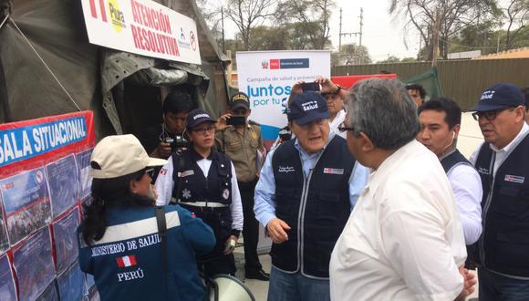Ministro Fernando D'Alessio visitó Piura.