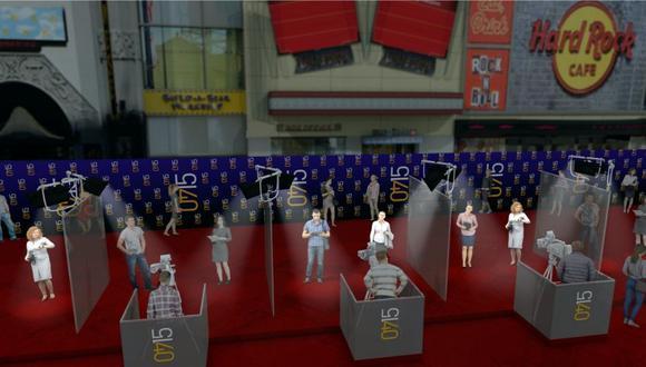 Las famosas alfombras rojas de las películas de Hollywood también se adaptarán a estos tiempos de Coronavirus. (Foto: AFP)