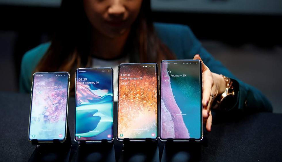 Samsung presentó este miércoles en San Francisco sus últimos modelos de teléfono Galaxy, el S10 y el S10 Plus. (Foto: Reuters)