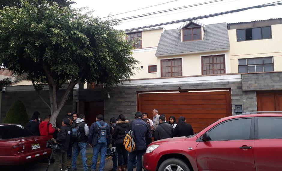 Allanamiento a la Casa de Nadine Heredia encabezado x la fiscal Giovanna Mori. (Fotos Giancarlo Ávila)