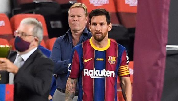 Ronald Koeman tomó el lugar que dejó Quique Setién en el banquillo del Barcelona. (Foto: AFP)