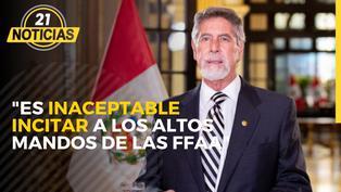 Pronunciamiento del presidente Francisco Sagasti