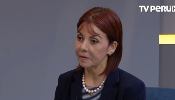 La fiscal suprema provisional María Sokolich estuvo a cargo de la Fiscalía Suprema Civil hasta hace pocos días. (Foto: TV Perú)